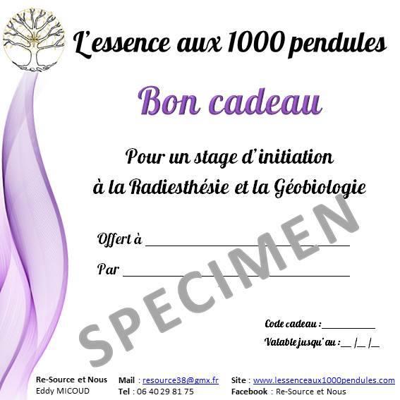 Bon Cadeau Stage Radiesthésie