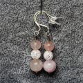 Boucle d oreille quartz rose 1