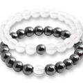 Bracelet couple hematite quartz