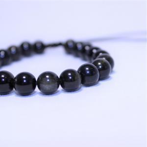 Bracelet obsidienne doree i19 5