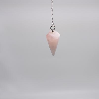 I83 pendule cone quartz rose 4