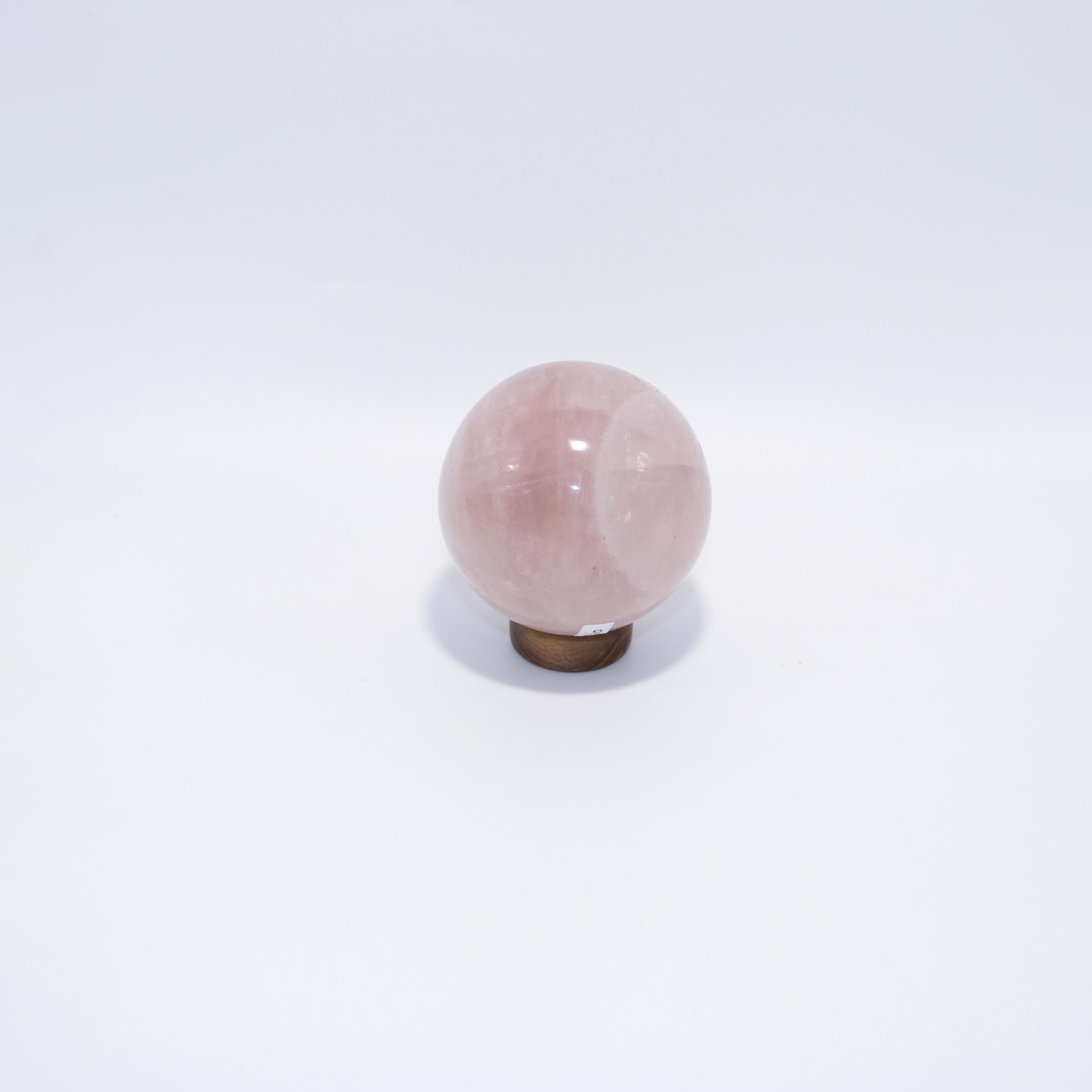 J10 sphere quartz rose 3