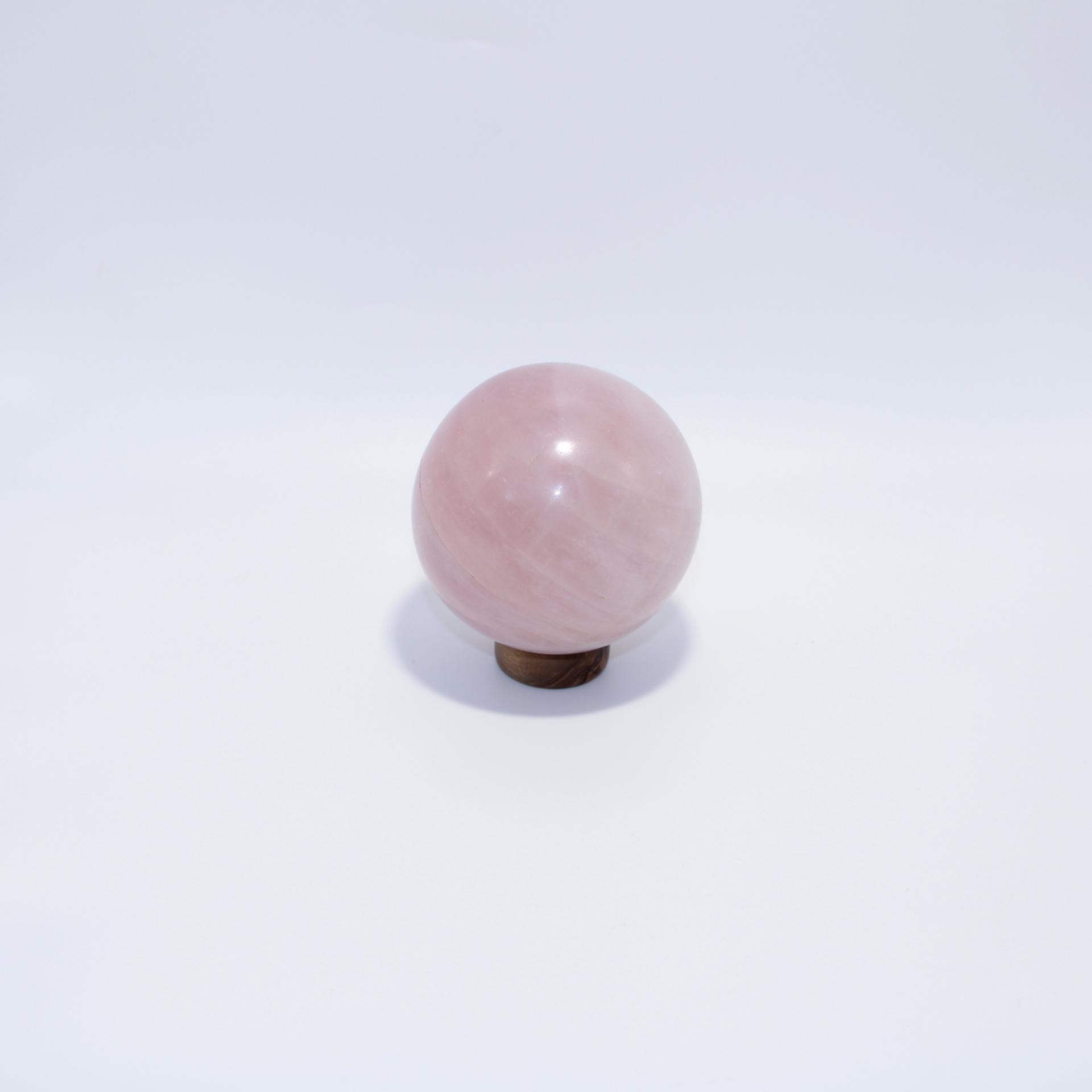 J11 sphere quartz rose 6