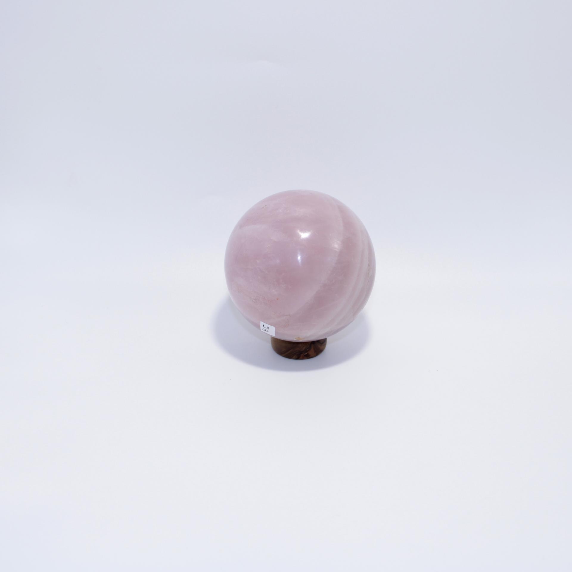 J13 sphere quartz rose 3