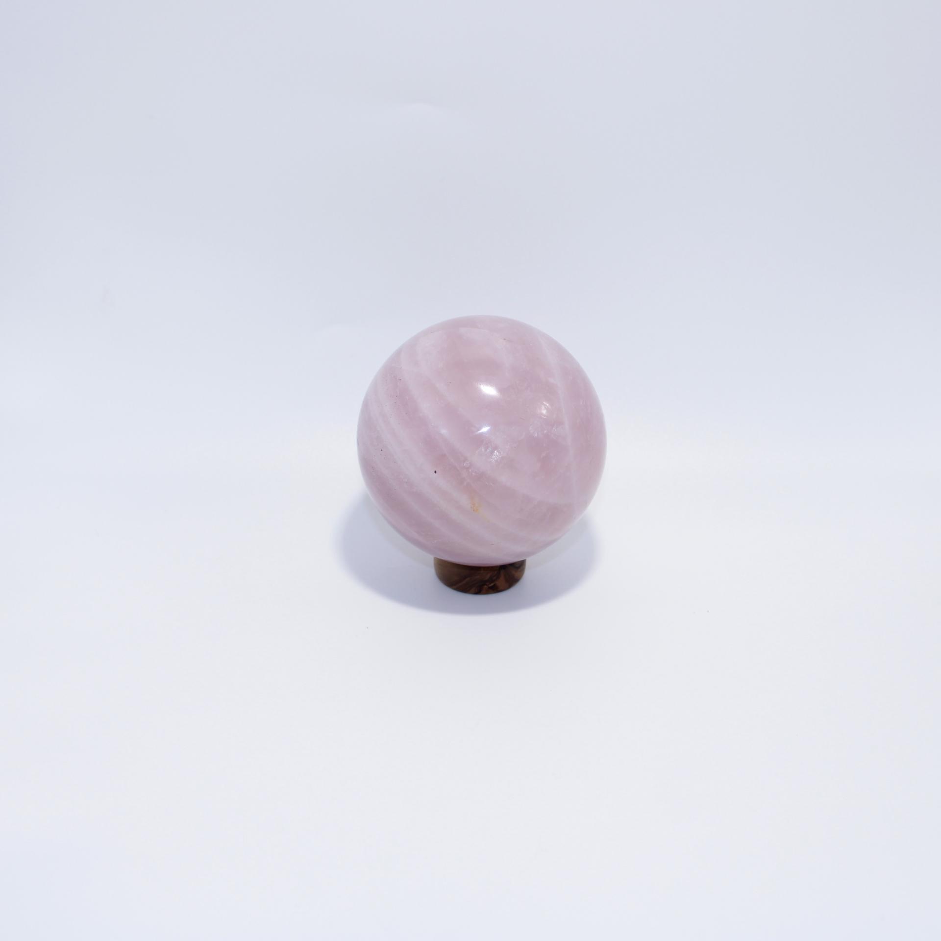 J13 sphere quartz rose 4