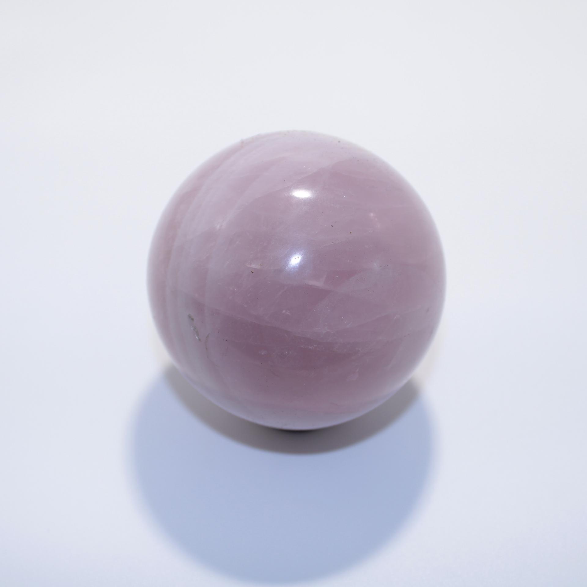J13 sphere quartz rose 6