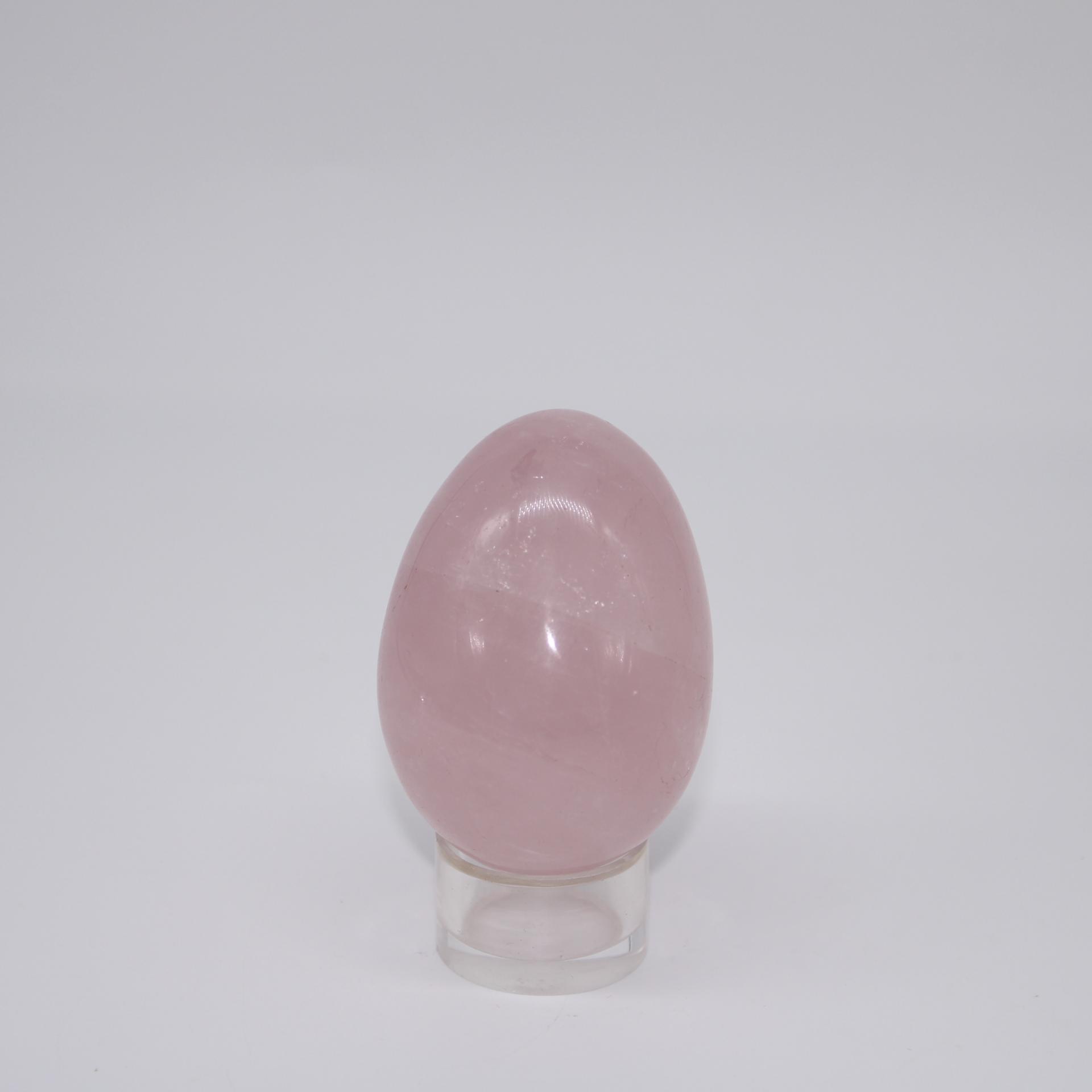 J71 oeuf quartz rose 1