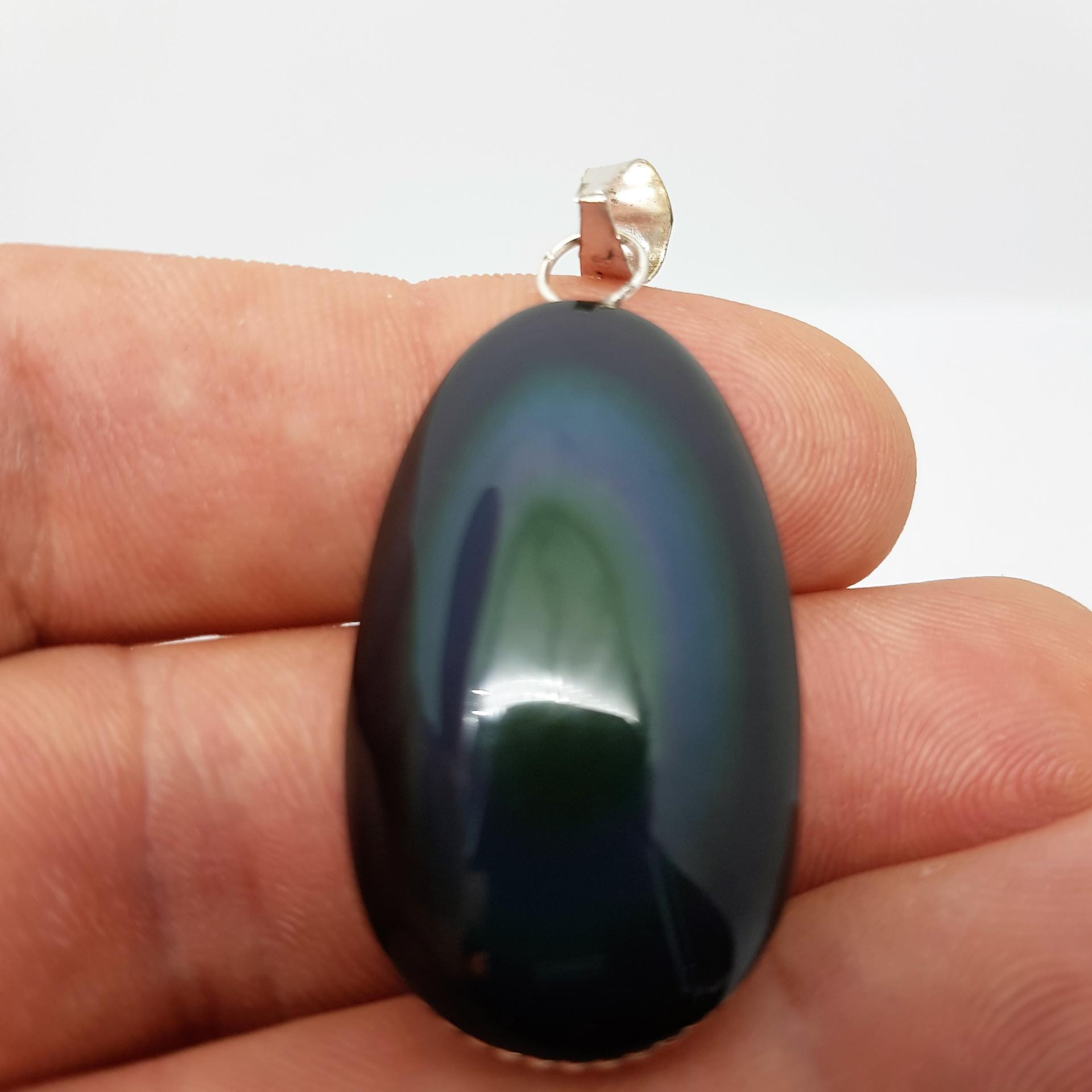 Pendentif Obsidienne Œil Céleste
