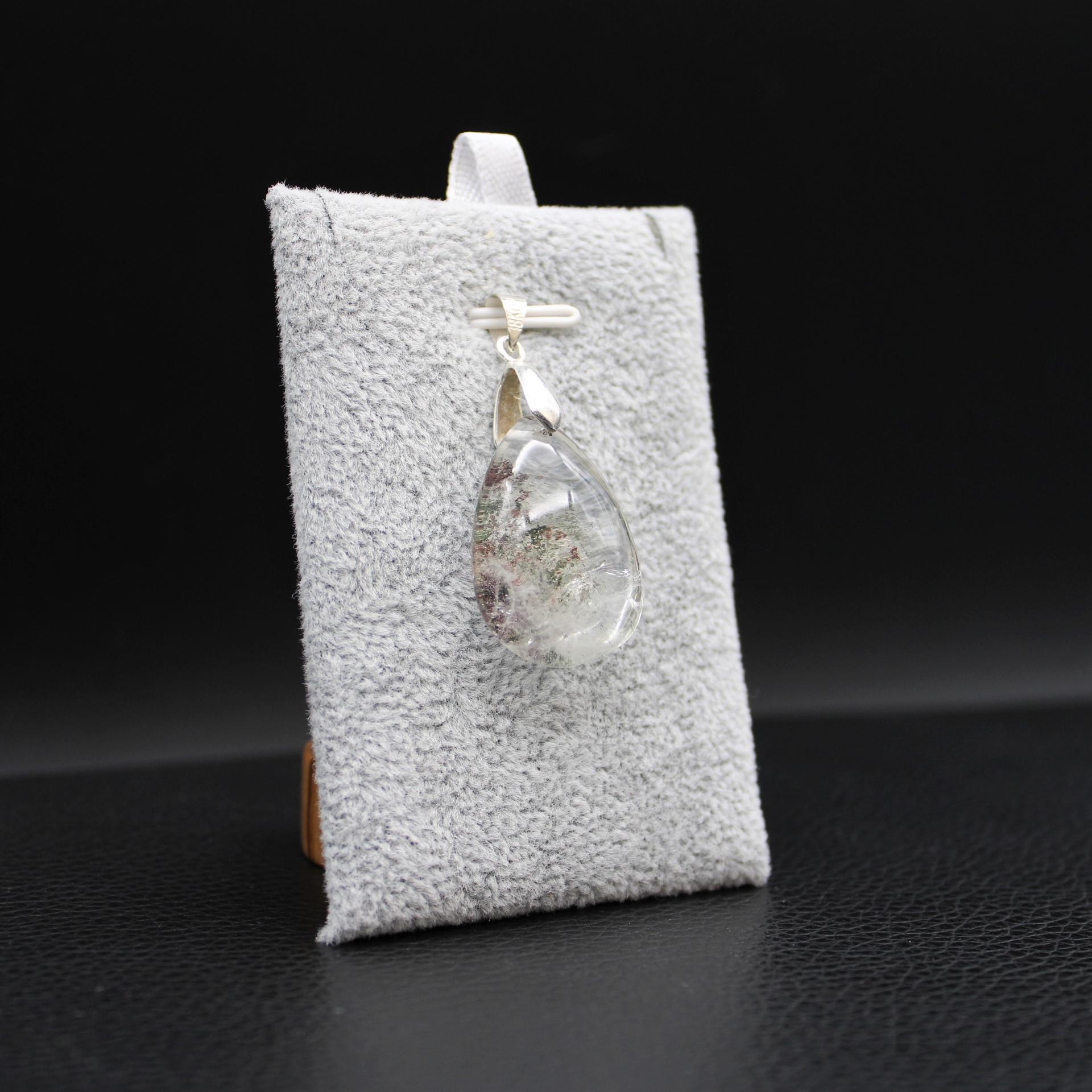Pendentif pierre lodolite 14