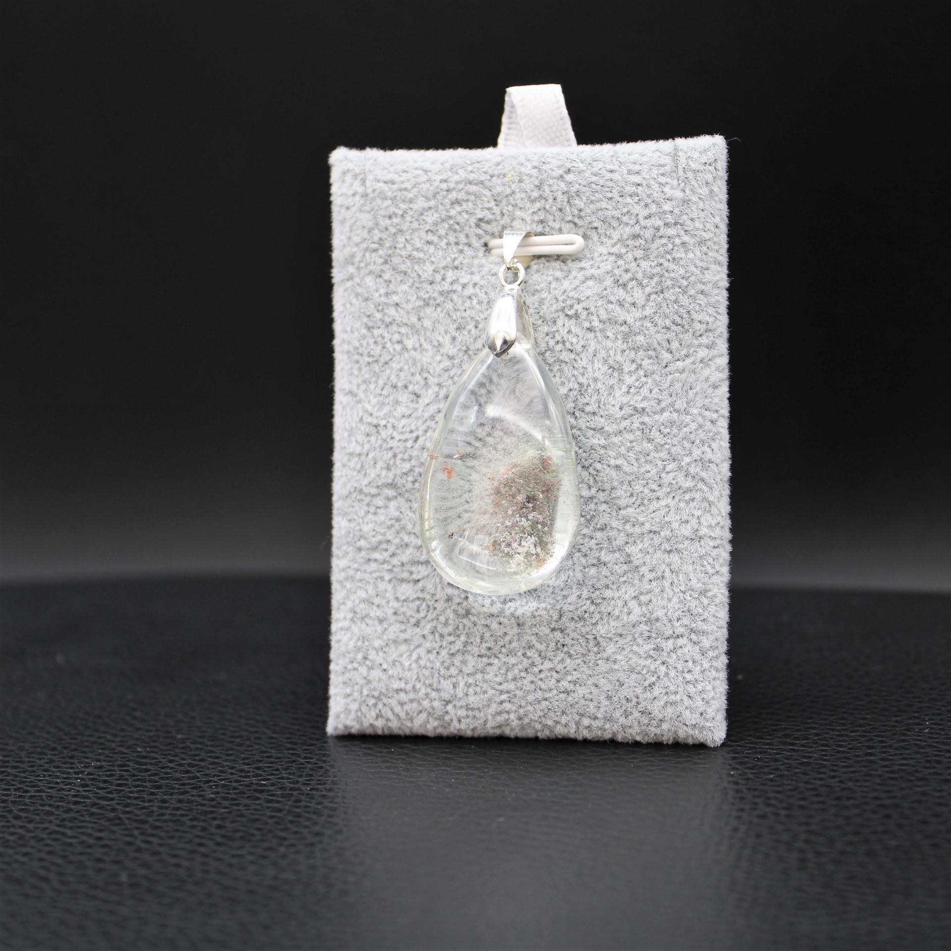Pendentif pierre lodolite 27