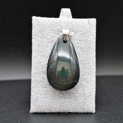 Pendentif pierre obsidienne 104
