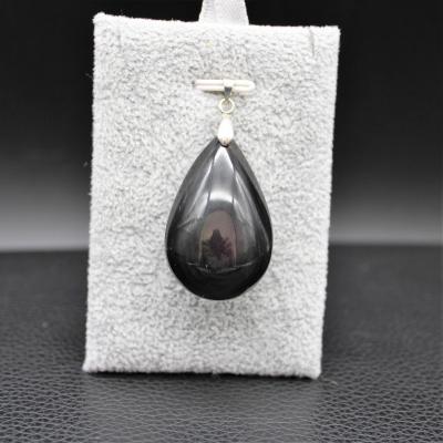 Pendentif pierre obsidienne 107