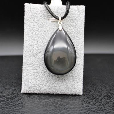 Pendentif pierre obsidienne 110