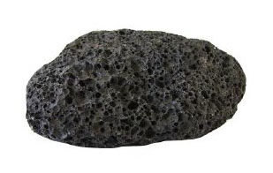 Pierre volcanique noire